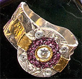 Empress Ring with Purple Gold